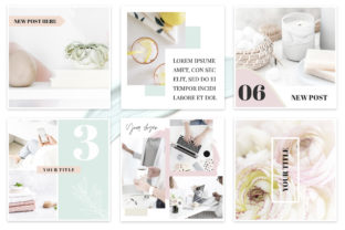 Canva Instagram Templates Pastel Graphic Graphic Templates By switzershop 7