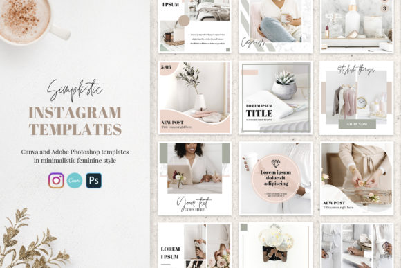 Canva Instagram Templates Simplistic Graphic Graphic Templates By switzershop