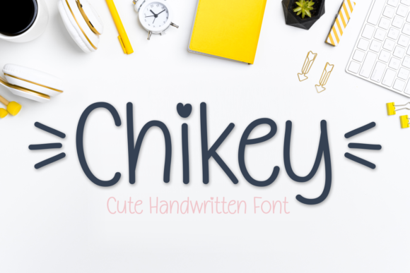 Print on Demand: Chikey Script & Handwritten Font By Jasm (7NTypes)