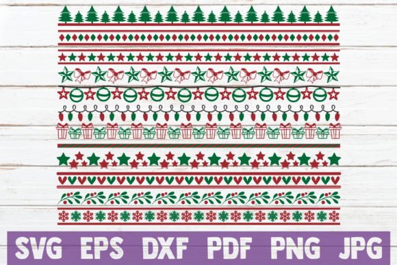 Christmas Borders SVG Bundle Graphic Crafts By MintyMarshmallows