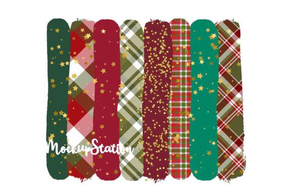 Christmas Brush Stroke Background Bundle Graphic Design