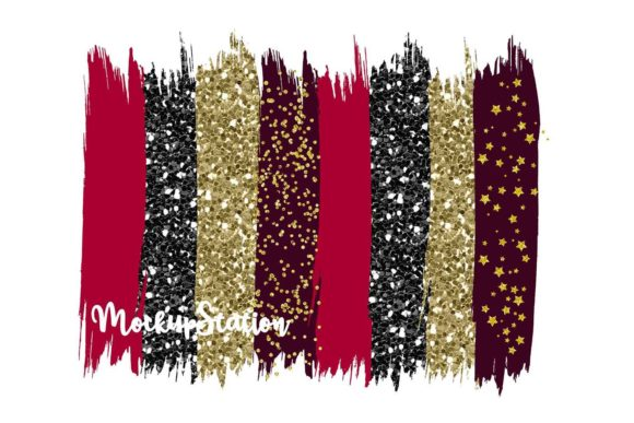 Christmas Brush Stroke Background Bundle Graphic Design Item