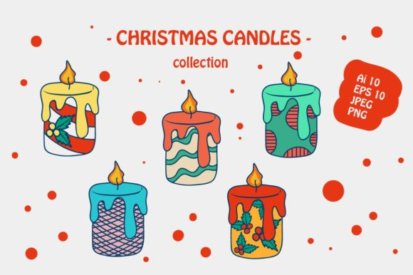 Print on Demand: Christmas Candle Icon Graphic Illustrations By archshape
