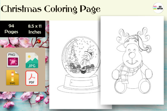 Print on Demand: Christmas Coloring Page - KDP Graphic Coloring Pages & Books By Sei Ripan