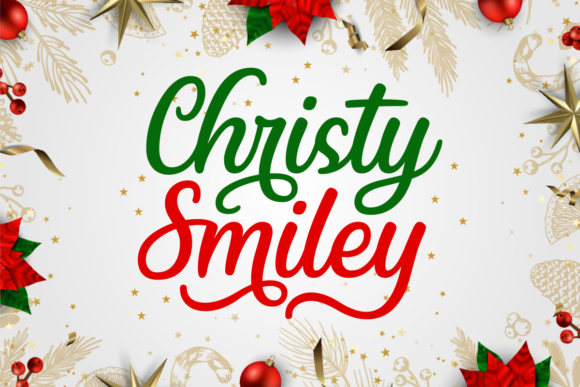 Print on Demand: Christy Smiley Script & Handwritten Font By Situjuh