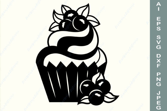 Cupcake Monogram, Dessert Graphic Crafts By AnastasiyaArtDesign