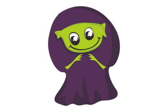Cute Halloween Monsters Graphic