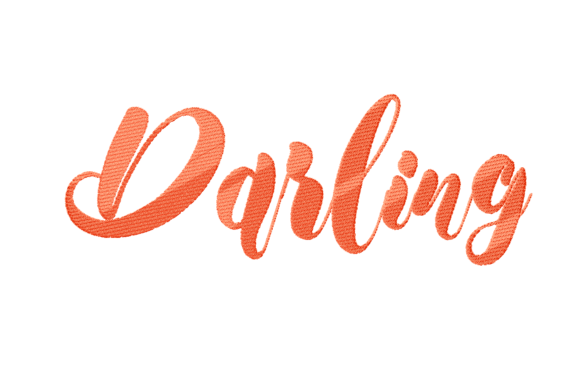 Print on Demand: Darling Lettering Wedding Quotes Embroidery Design By setiyadissi