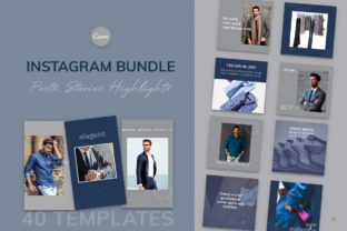 Print on Demand: Elegant Canva Instagram Templates Graphic Infographics By milagro.mst