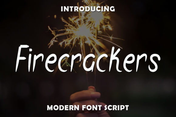 Print on Demand: Firecrackers Script & Handwritten Font By rangkaiaksara