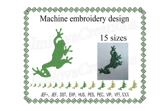 Frog Silhouette Embroidery