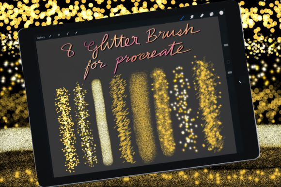 Print on Demand: Glitter Brushes for Procreate Ipad Graphic Brushes By Duckyjudy