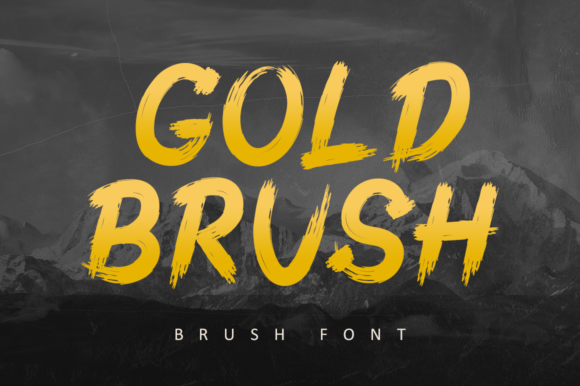 Print on Demand: Gold Brush Display Font By illushvara