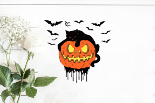 Halloween Black Catty Graphic Print Templates By Silhouette Market