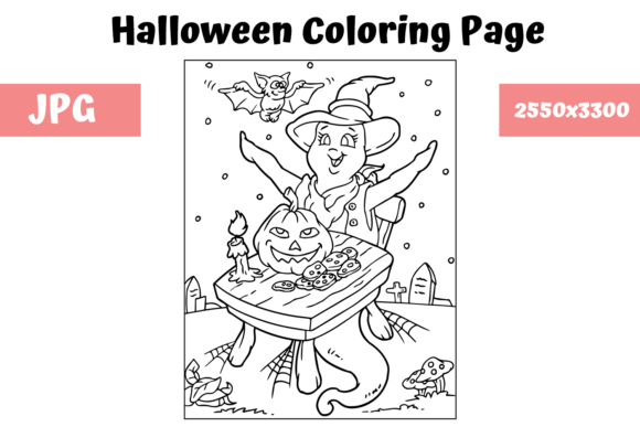 Print on Demand: Halloween Coloring Page - 1 Graphic Coloring Pages & Books Kids By MyBeautifulFiles