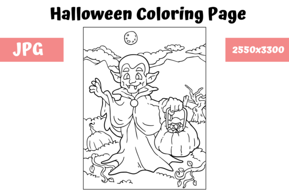 Print on Demand: Halloween Coloring Page - 11 Graphic Coloring Pages & Books Kids By MyBeautifulFiles