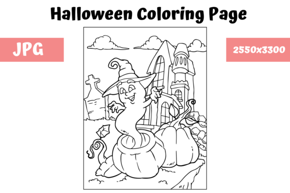 Print on Demand: Halloween Coloring Page - 12 Graphic Coloring Pages & Books Kids By MyBeautifulFiles