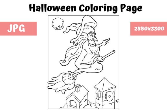 Print on Demand: Halloween Coloring Page - 13 Graphic Coloring Pages & Books Kids By MyBeautifulFiles