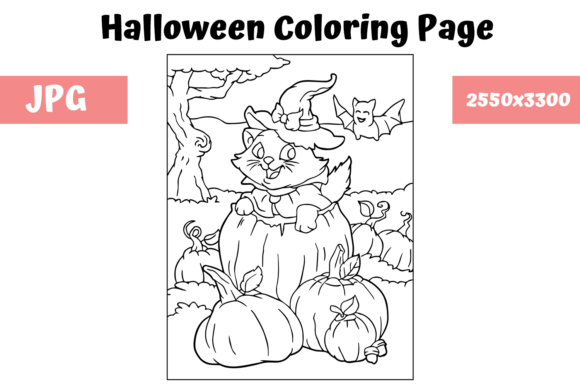 Print on Demand: Halloween Coloring Page - 14 Graphic Coloring Pages & Books Kids By MyBeautifulFiles