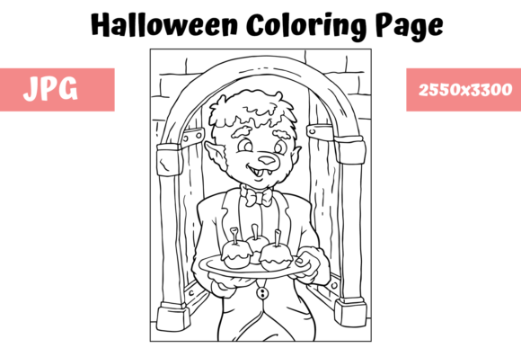 Print on Demand: Halloween Coloring Page - 15 Graphic Coloring Pages & Books Kids By MyBeautifulFiles