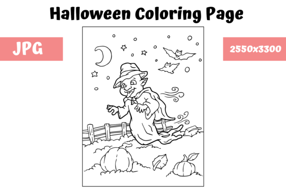 Print on Demand: Halloween Coloring Page - 2 Graphic Coloring Pages & Books Kids By MyBeautifulFiles