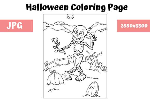 Print on Demand: Halloween Coloring Page - 3 Graphic Coloring Pages & Books Kids By MyBeautifulFiles