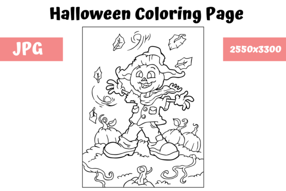 Print on Demand: Halloween Coloring Page - 7 Graphic Coloring Pages & Books Kids By MyBeautifulFiles