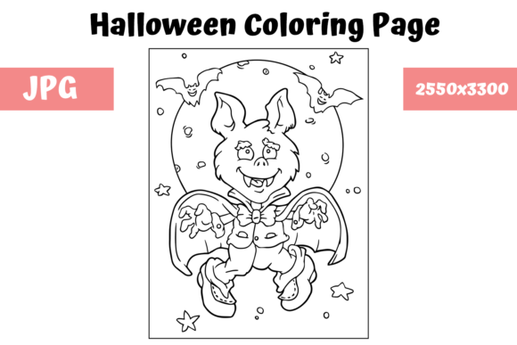 Print on Demand: Halloween Coloring Page - 8 Graphic Coloring Pages & Books Kids By MyBeautifulFiles