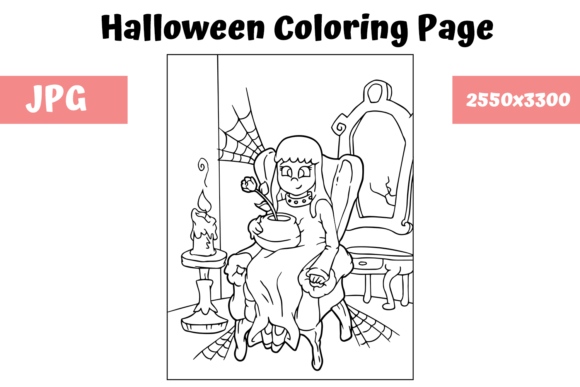 Print on Demand: Halloween Coloring Page - 9 Graphic Coloring Pages & Books Kids By MyBeautifulFiles