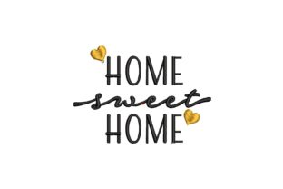 Home Sweet Home House & Home Quotes Embroidery Design By carasembor