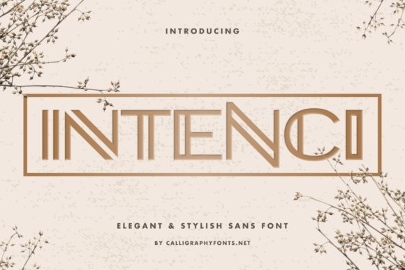 Print on Demand: Intenci Display Font By CalligraphyFonts