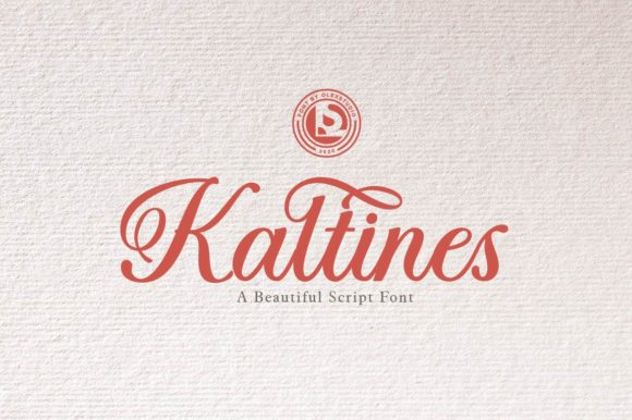 Print on Demand: Kaltines Script & Handwritten Font By Olexstudio