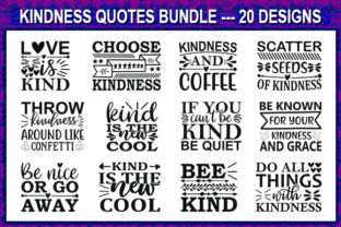 Print on Demand: Kindness Quote Designs Bundle Graphic Print Templates By store_svg