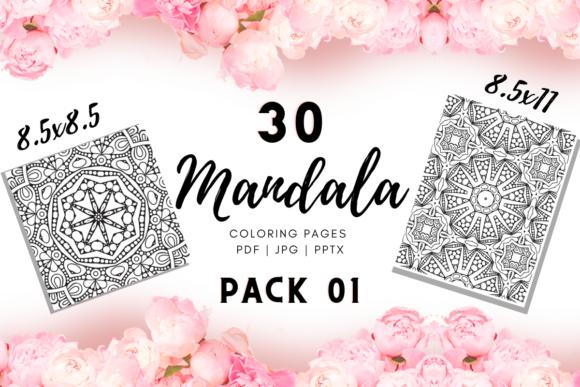 Print on Demand: Mandala Coloring Pages | KDP Template 1 Graphic Coloring Pages & Books Adults By Fayne
