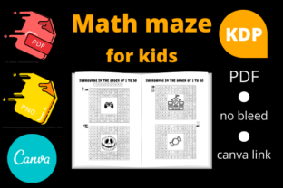 Print on Demand: Math Maze for Kids Activity Book Graphic KDP Interiors By Dunkyshot