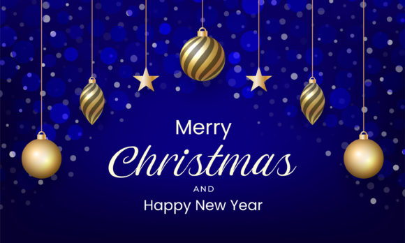 Merry Christmas and Happy New Year Graphic Backgrounds By murnifine