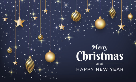 Merry Christmas and New Year Background Graphic Backgrounds By murnifine