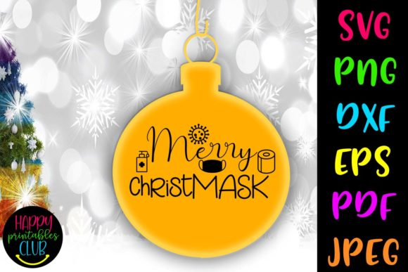Print on Demand: Merry Christmask - Quarantine Graphic Crafts By Happy Printables Club