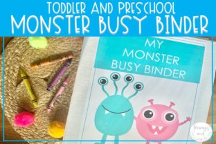Print on Demand: Monster Busy Binder | Preschool Activity Graphic Print Templates By Fairways and Chalkboards