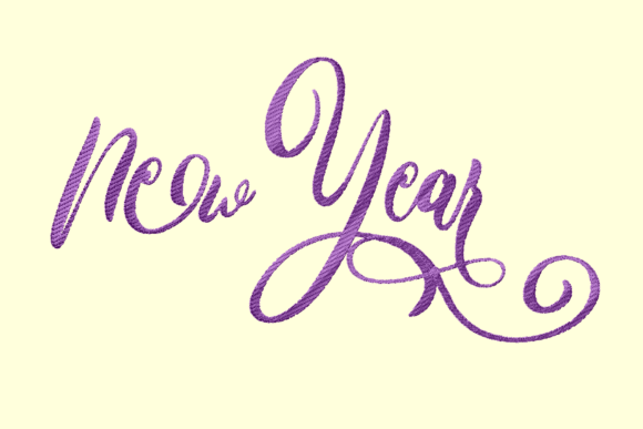 Print on Demand: New Year Anniversary Embroidery Design By setiyadissi