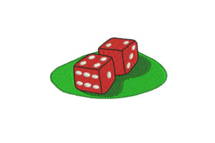 Pair of Dice Games & Leisure Embroidery Design By BabyNucci Embroidery Designs
