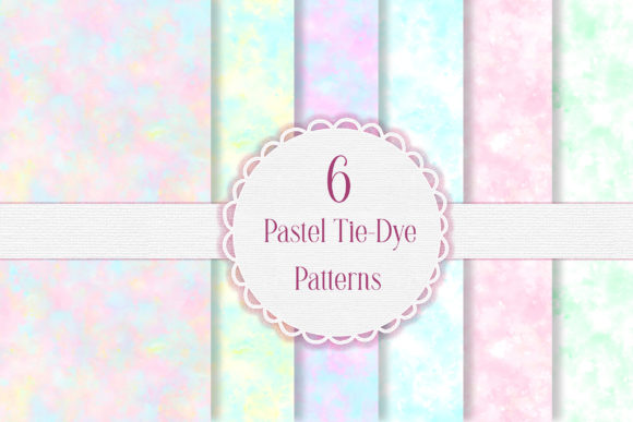 Pastel Tie-Dye Seamless Patterns Graphic Patterns By i love BlueBelle