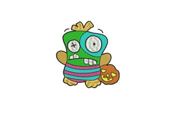 Puppet Trick or Treat Halloween Embroidery Design By BabyNucci Embroidery Designs