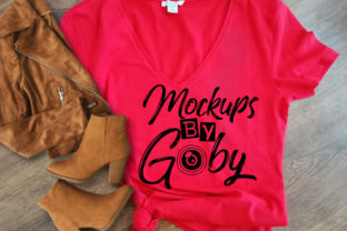 Red Flat Lay Mock Up , Country Girl Graphic Product Mockups By PhotoMockup