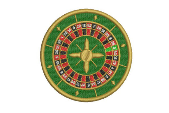 Roulette Games & Leisure Embroidery Design By BabyNucci Embroidery Designs