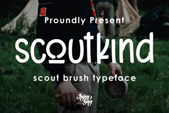 Print on Demand: Scoutkind Display Font By Nerzstudio