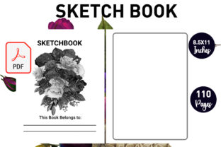 Print on Demand: Sketch Book for Drawing Kids and Adults Graphic KDP Interiors By Gurus Kdp Templates