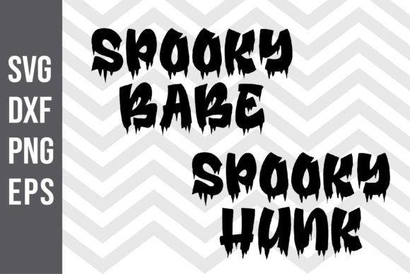 Spooky Babe Spooky Hunk SVG Graphic Crafts By spoonyprint