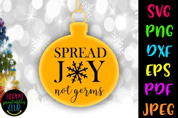 Print on Demand: Spread Joy Not Germs Christmas Graphic Crafts By Happy Printables Club