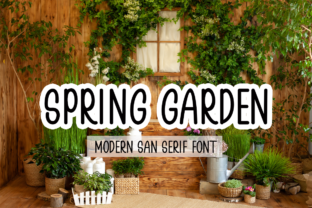 Print on Demand: Spring Garden Sans Serif Font By Supersemar Letter